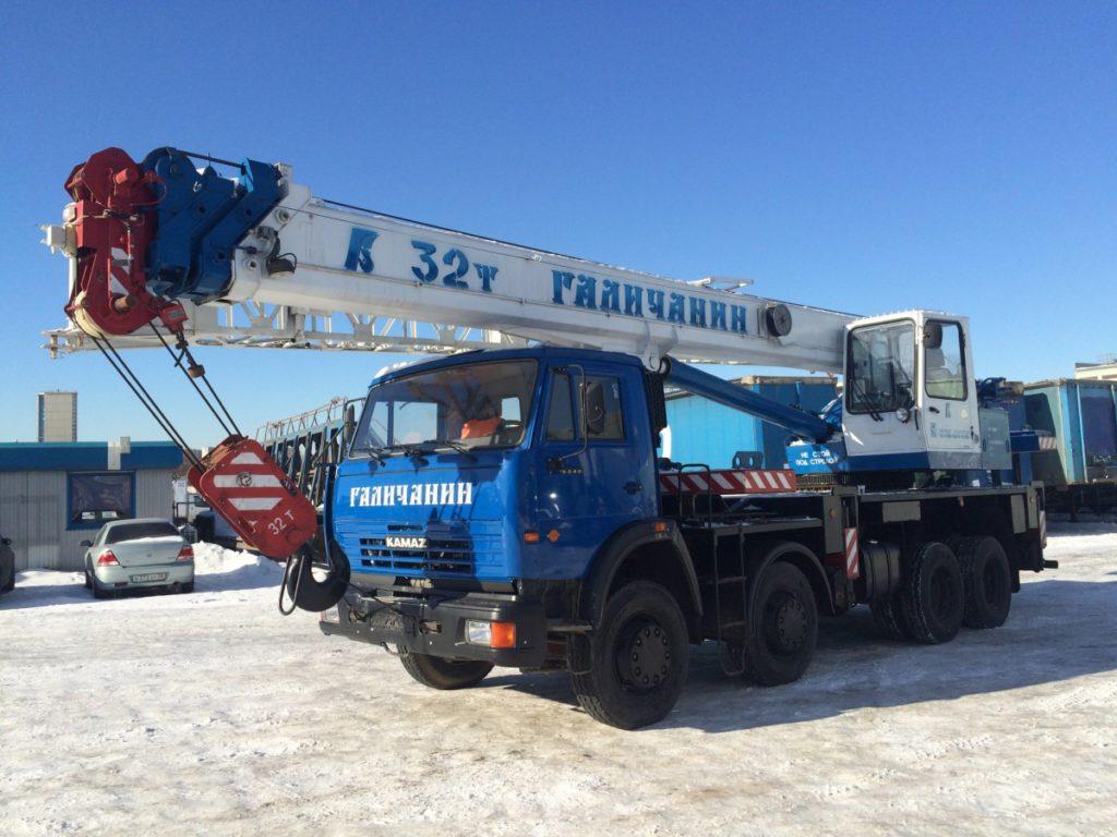 Автокран ГАЛИЧАНИН КС-55729-1В, 32т