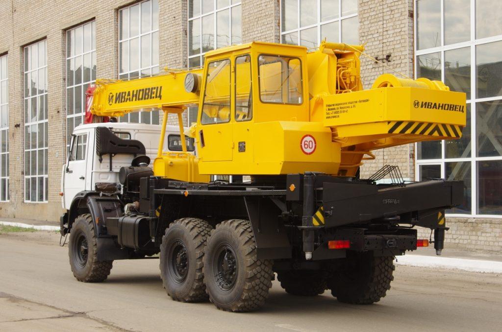 Автокран Ивановец КС-35714К-2 вездеход грузоподъёмностью 16 тонн