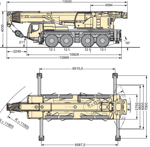 Автокран LTM 1100-4.2, 100 т