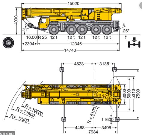 Автокран LIEBHERR LTM 1160-5.1 160 т