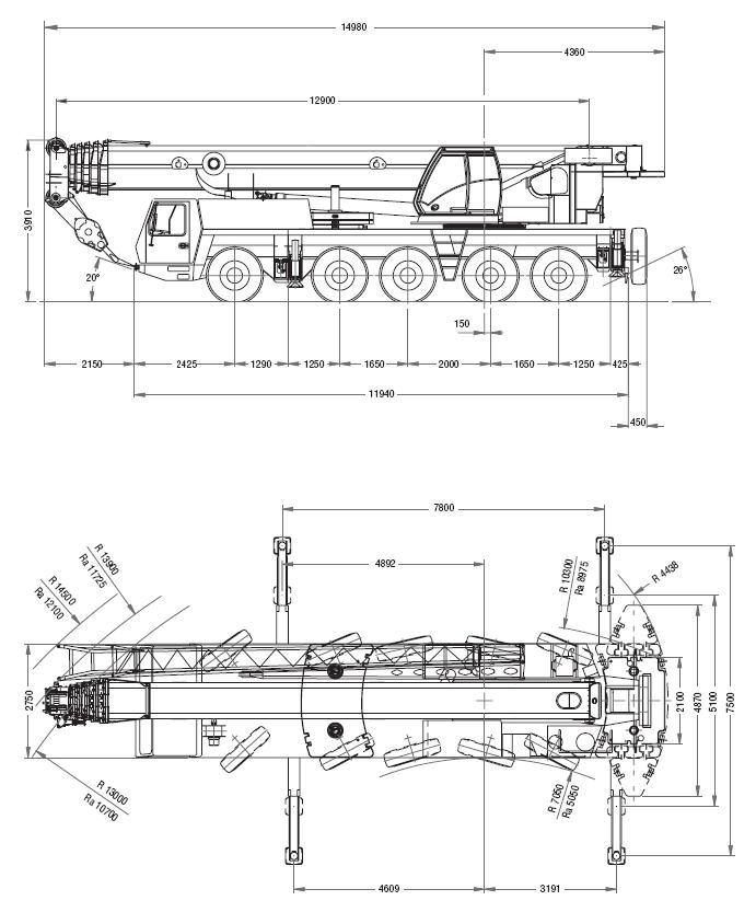 Автокран Grove GMK5150 грузоподъёмностью 150 тонн