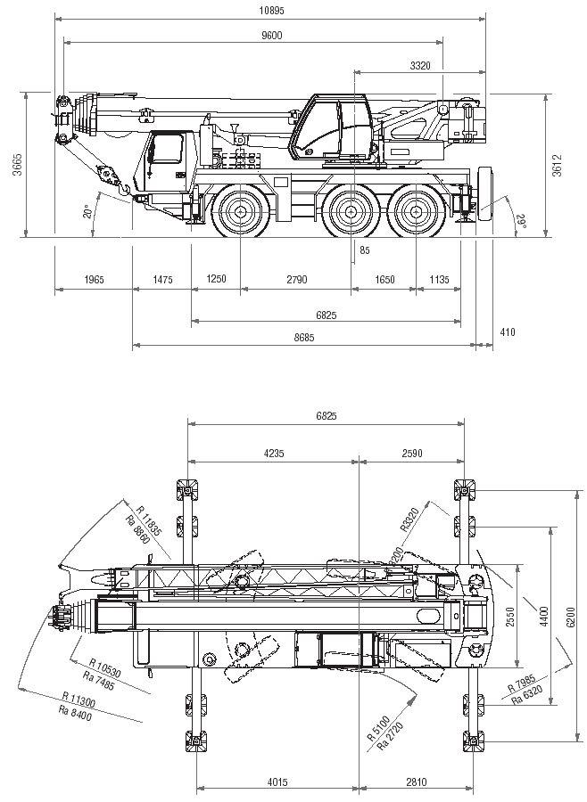 Автокран Grove GMK3055 грузоподъёмностью 55 тонн