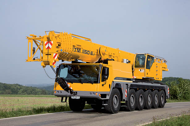Автокран Liebherr LTM 1150-6.1 грузоподъёмностью 150 тонн