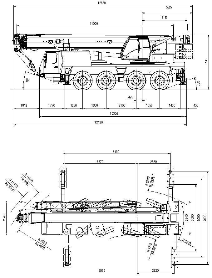 Автокран Grove GMK 4080-1 грузоподъёмностью 80 тонн
